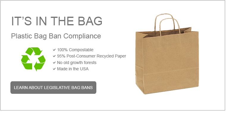Our bags comply with plastic bag ban requirements